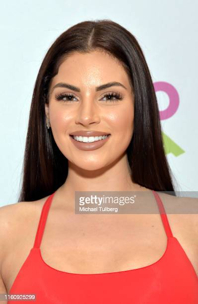 Influencer Nazanin Kavari attends the #TacoBoutViral event for influencers at Tacotopia on July 08 2019 in Santa Monica California