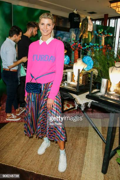 Influencer Nina Sieber attends the Thomas Sabo Press Cocktail during the MercedesBenz Fashion Week Berlin A/W 2018 at China Club on January 17 2018...