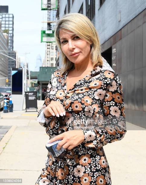 Influencer Olga Ferrara is seen outside a fashion show on September 14, 2020 in New York City.