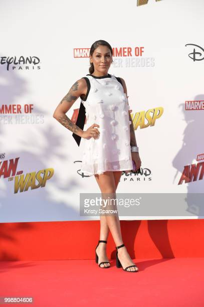 Influencer Rawell Saiidi attends the European Premiere of Marvel Studios AntMan And The Wasp at Disneyland Paris on July 14 2018 in Paris France