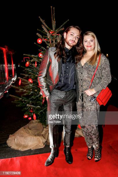 Influencer Riccardo Simonetti and German actress AnnSophie Briest during the Daimlers BE A MOVER event at Ein Herz Fuer Kinder Gala at Studio Berlin...