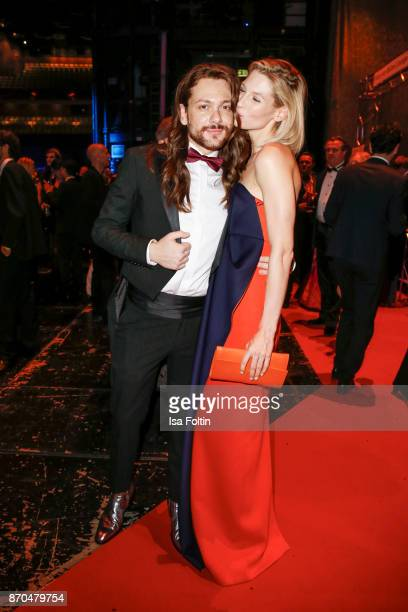 Influencer Riccardo Simonetti and model Sarah Brandner attend the aftershow party during during the 24th Opera Gala at Deutsche Oper Berlin on...