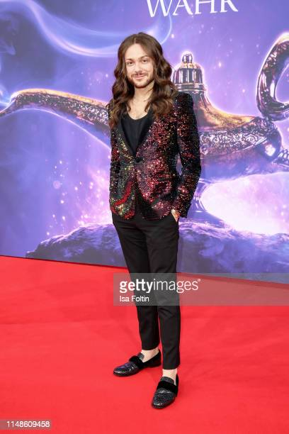 """Influencer Riccardo Simonetti attends the movie premiere of """"Aladdin"""" at UCI Luxe Mercedes Platz on May 11, 2019 in Berlin, Germany."""