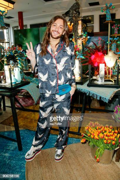 Influencer Riccardo Simonetti attends the Thomas Sabo Press Cocktail during the MercedesBenz Fashion Week Berlin A/W 2018 at China Club on January 17...