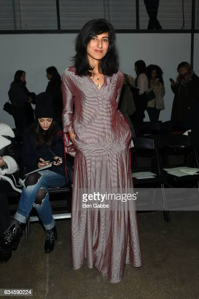 Influencer Rita Nakouzi attends the Hellessy fashion show during New York Fashion Week at Highline Stages on February 10 2017 in New York City