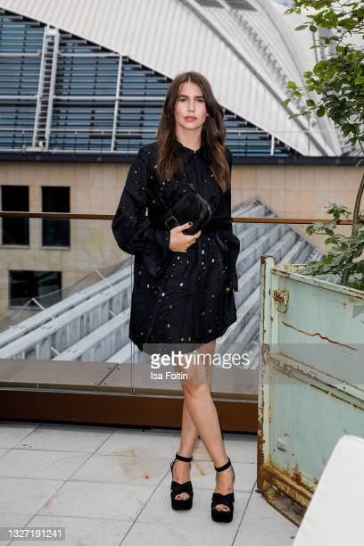 Influencer Sarah-Lou Falk attends the Bunte New Faces Award Style on July 5, 2021 in Frankfurt am Main, Germany.