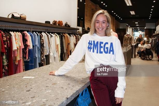 Influencer Sonia Lyson attends the Kickoff Europa #MEGA event hosted by Place to B at The Corner on April 29 2019 in Berlin Germany