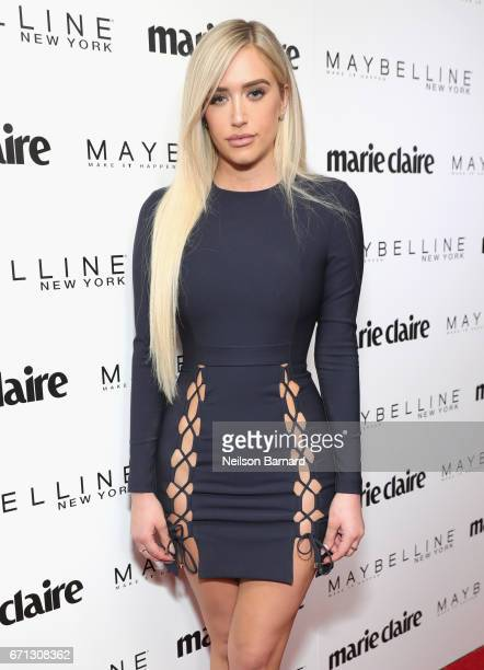 Influencer Stassie Karanikolaou attends Marie Claire's 'Fresh Faces' celebration with an event sponsored by Maybelline at Doheny Room on April 21...