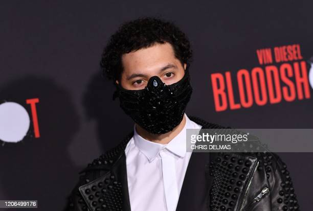 US influencer Steven Rey Simpson arrives for the premiere of Sony's Bloodshot at the Regency Village theatre on March 10 2020 in Westwood California