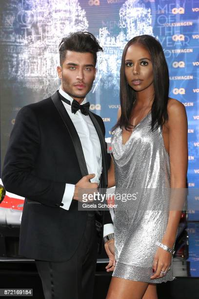 Influencer Toni Mahfud and Ruhama Negassi arrives for the GQ Men of the year Award 2017 at Komische Oper on November 9 2017 in Berlin Germany