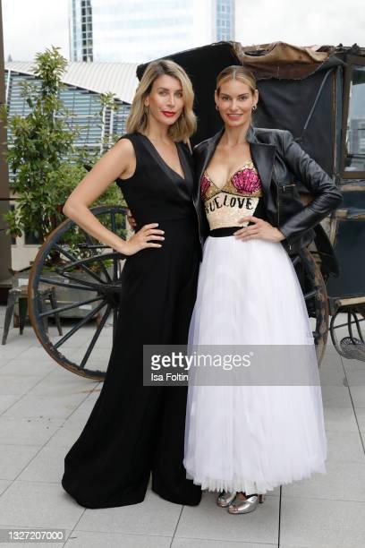 Influencer Tori Scheu and German actress Rebecca Kunikowski attend the Bunte New Faces Award Style on July 5, 2021 in Frankfurt am Main, Germany.