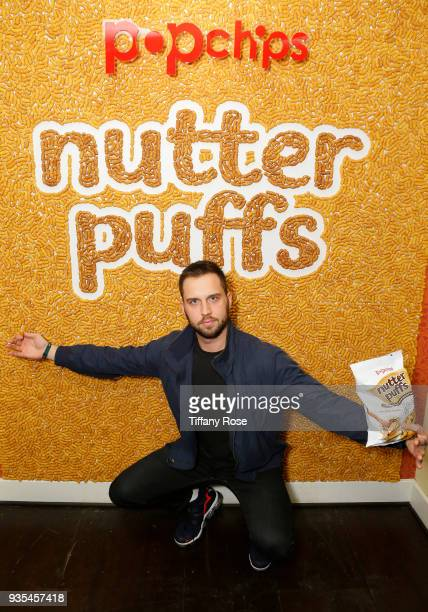 Influencer Trey Kennedy attends the launch of Popchips' Nutter Puffs at the Chateau Marmont on March 20 2018 in Los Angeles California