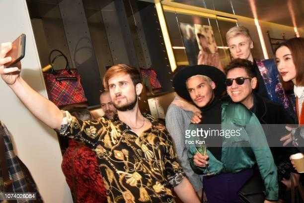Influencer Yanis Bargoin, a guest, Leon Rgus, Yanis Bargoin, Jean Marc Mondelet;Asabella Xia pose for a selfie during Blake Magazine 10th Anniversary...