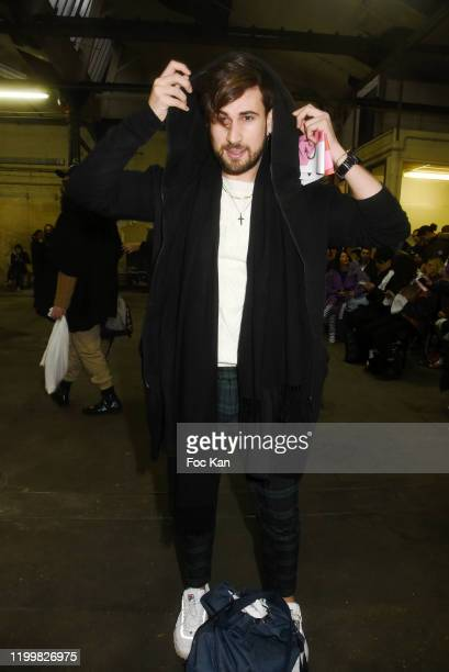 Influencer Yanis Bargoin attends the Walter Van Beirendonck Menswear Fall/Winter 2020-2021 show as part of Paris Fashion Week on January 15, 2020 in...
