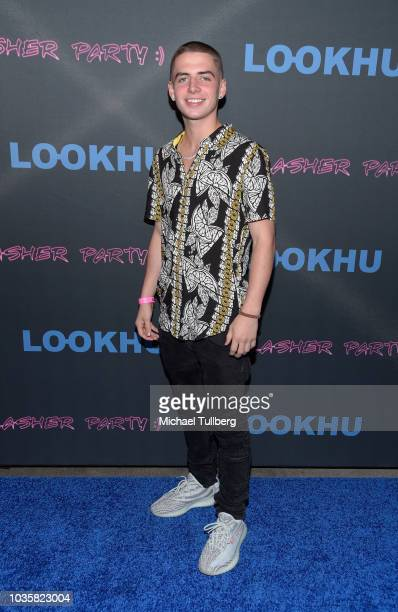 Influencer Zach Clayton attends the premiere party for LookHu's Slasher Party at ArcLight Hollywood on September 18 2018 in Hollywood California