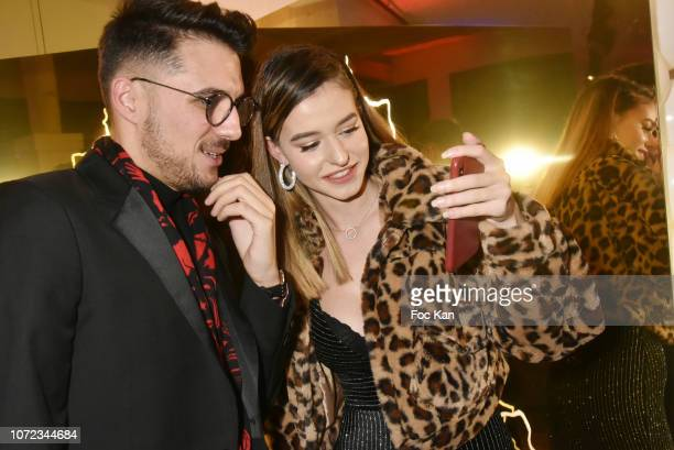 Influencer/Instagrammer Lea Elui and photographer Ludovic Baron attend 'Les Dieux du Stade 2019' Calendar Launch at Station Space on December12 2018...