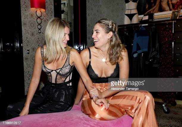 Influencers attend Victoria's Secret Debut of the New Fall Collection on August 08 2019 in Miami Florida