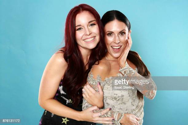 Influencers Erin Robinson and Joslyn Davis pose for portrait at the American Influencer Awards at LA Live on November 18 2017 in Los Angeles...