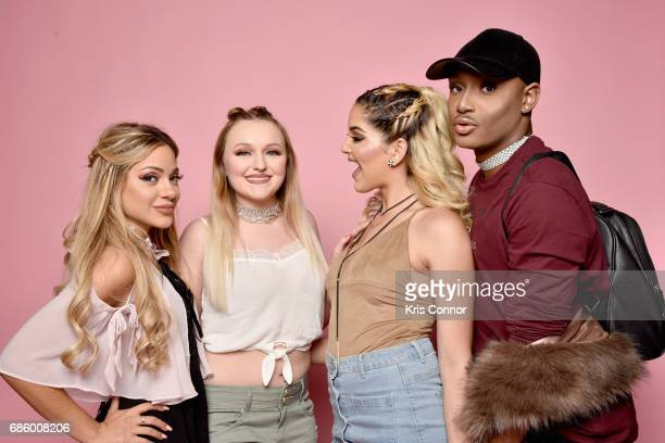 Influencers Gabi DeMartino Allie Bennicas Nashaly Torres and Kenny Scriven attend Beautycon Festival NYC 2017 Portraits at Brooklyn Cruise Terminal...