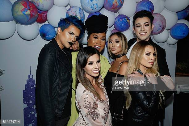 Influencers Gabriel Zamora Patrick Starrr Arika Sato and Manny Mua and influencers Laura Lee and Jadey Wadey attend People's 'Ones to Watch' event...