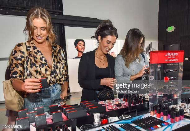 Influencers Jamie Mansfield Neghin Adina and a guest attend Shiseido Masterclass on September 25 2018 in Los Angeles California