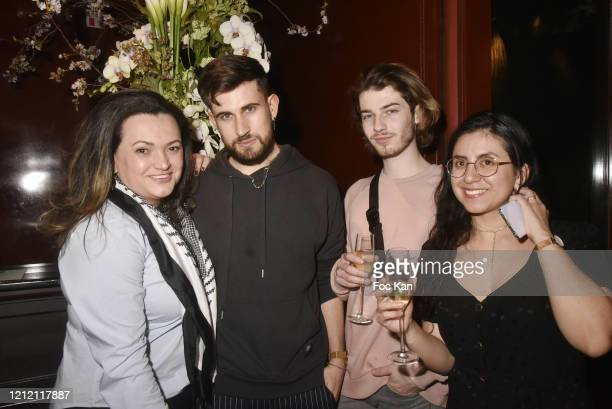 """Influencers Janaina Pedroza, Yanis Bargoin, Baptiste Morel and Isabelle Noel attend """"GS 50"""" Citroen X Les Bains Car Launch Party by Tristan Auer at..."""