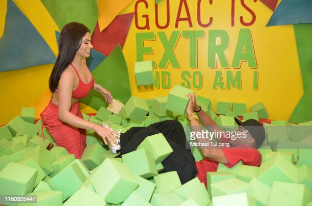 Influencers Mel Wade and Nazanin Kavari attend the #TacoBoutViral event for influencers at Tacotopia on July 08 2019 in Santa Monica California