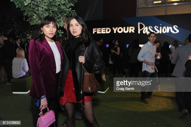Influencers Natalie Lim Suarez and Linh Niller enjoy a unique experience at the Hilton and American Express event at the Conrad New York on January...