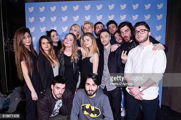 Influencers on Twitter attend Twitter's 10th Anniversary party on March 21 2016 in Milan Italy