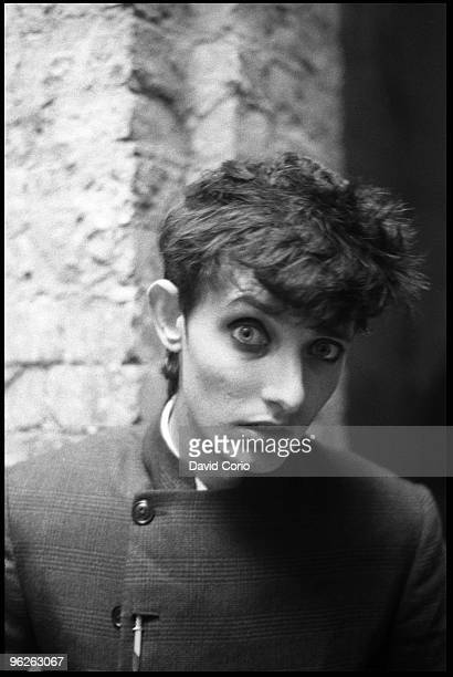 Influential Australian guitarist Roland S Howard of the postpunk group The Birthday Party poses for a portrait on October 22 1981 in Kilburn London...