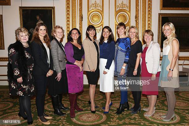 Influential women partake in an 'Inspiring Women' speed networking event for 100 girls from state secondary schools in Lancaster House on October 17...