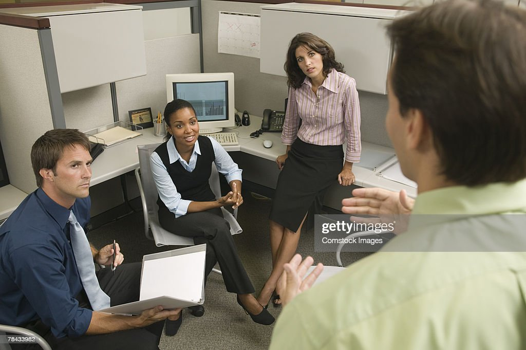 Informal business meeting : Stockfoto