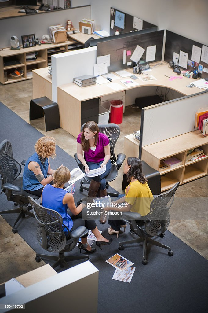 informal conference, graphic design office : Stock Photo