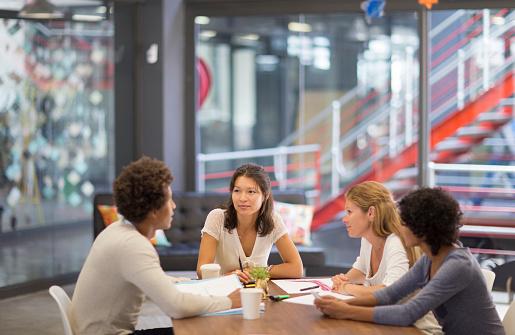 Informal meeting in an advertising agency - gettyimageskorea