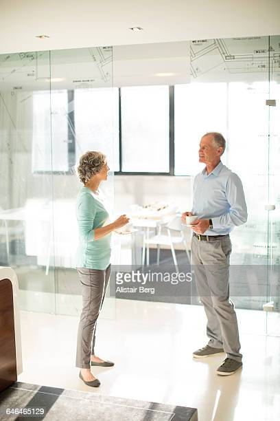Informal meeting in an office