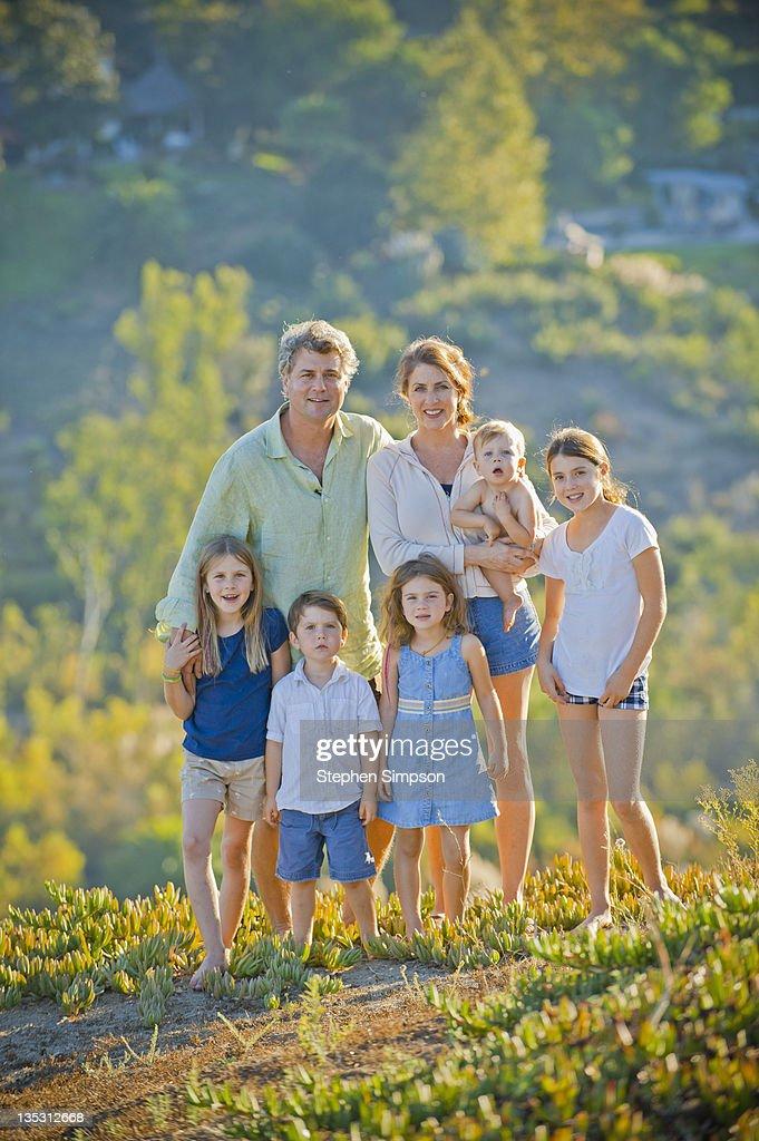 Informal Outdoor Summer Family Portrait