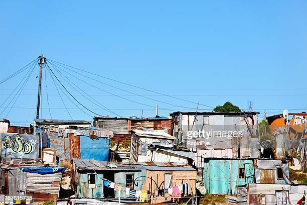 Informal settlement or shantytown outside Cape Town