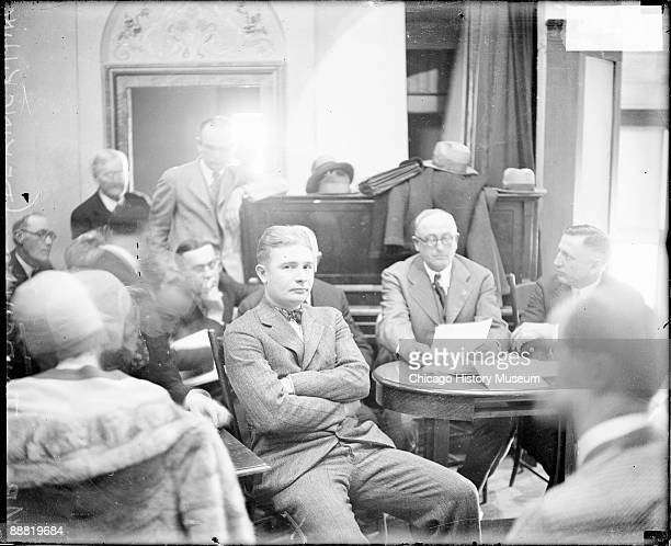 Informal threequarter length portrait of Eugene Boyd Fairchild involved in the trial for the DeKing dry raid looking toward the camera sitting with...