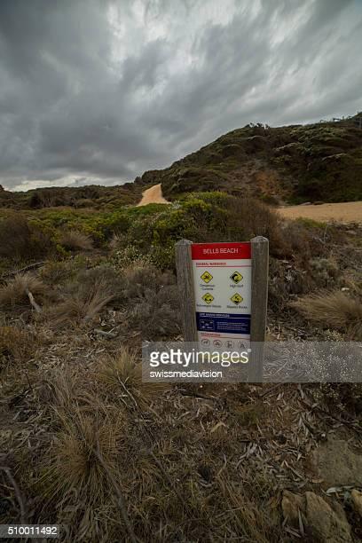 Bells beach, Australia - January 28, 2016: Information board
