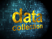Information concept: data collection on digital background