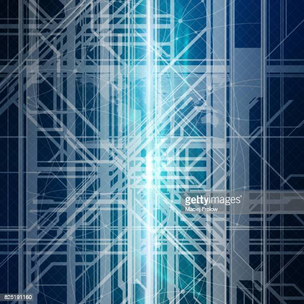 Information highway. processing. Conceptual artwork.