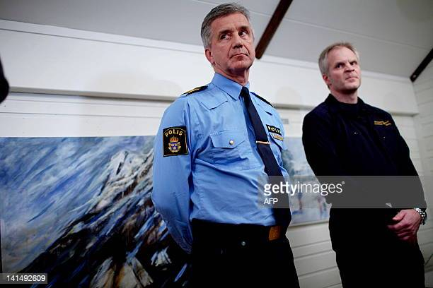 Information officer in the Swedish police Borje Ohman and head of rescue Thomas Winnberg informed on March 17 2012 in Nikkaluokta that human remains...