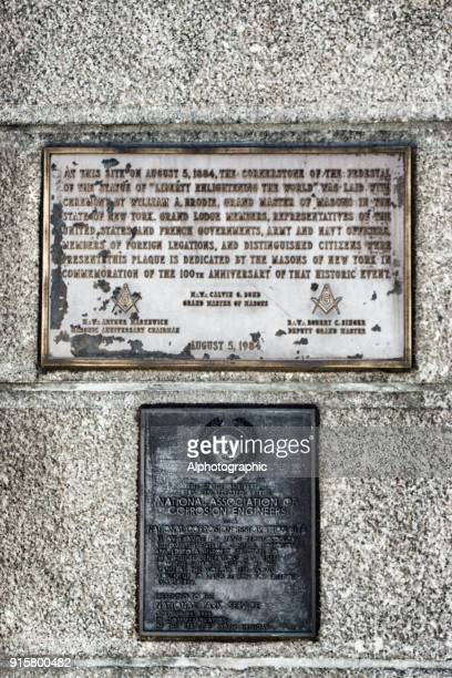 Information Plaques on Statue of Liberty
