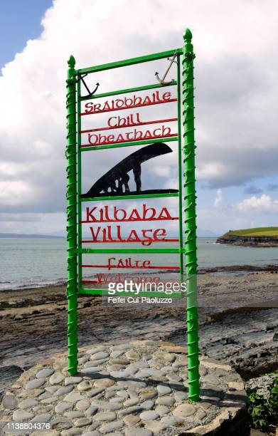 information sign at kilbaha, county clare, ireland - feifei cui paoluzzo stock pictures, royalty-free photos & images