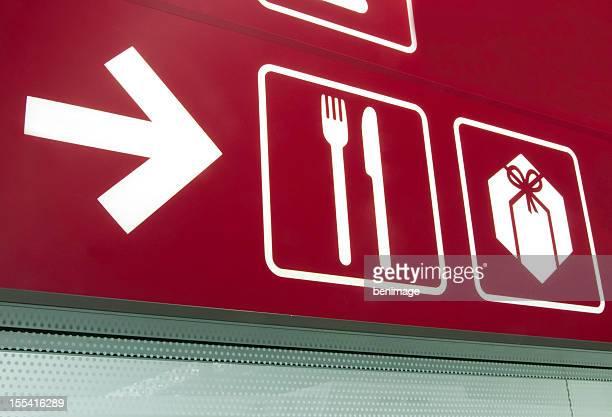 Panneau d'Information-Food Court et des boutiques