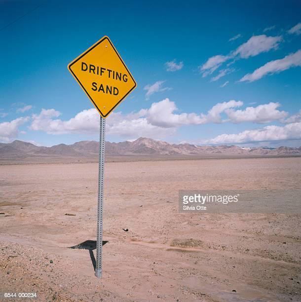 Information Sign in Desert