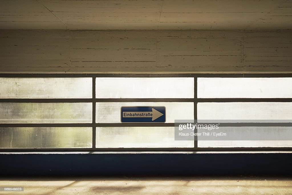 Information Sign In Tunnel : Stock Photo
