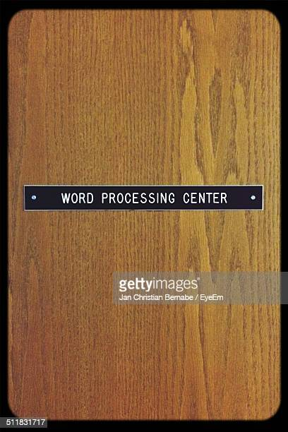 information sign on wooden door - nameplate stock pictures, royalty-free photos & images