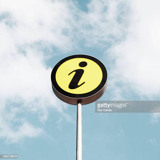 information sign - hinweisschild stock-fotos und bilder