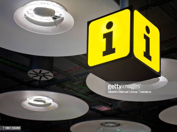 information symbol at a train station - information symbol stock pictures, royalty-free photos & images
